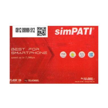Telkomsel Simpati Nomor Cantik 0812 89999 512 Kartu Perdana