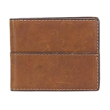 Fossil SML 1066210 Ethan Traveler Medium Dompet Pria - Brown