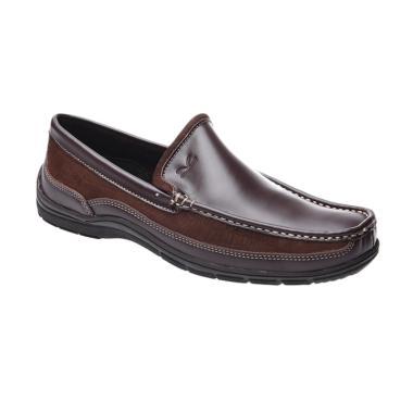Carvil Men Shoes Canvas Nordic Sepatu Pria - Dark Brown