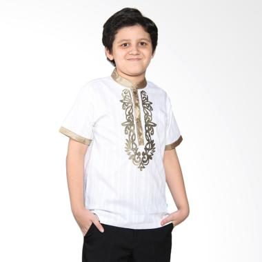 Versail Kids Juenes Pm 7039 Baju Koko Putih Pendek Anak - White