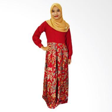 Mayura Batik Abaya Kayona Gamis Batik Wanita - Maroon