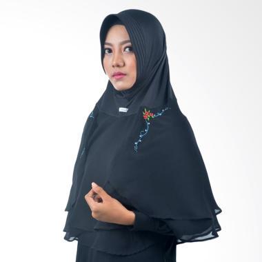 Atteena Hijab Alifa Rafiqah Medium Jilbab Instant - Hitam