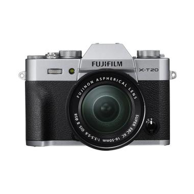 Fujifilm X-T20 Kit 16-50mm Lens + Screen Guard Terpasang - Silver