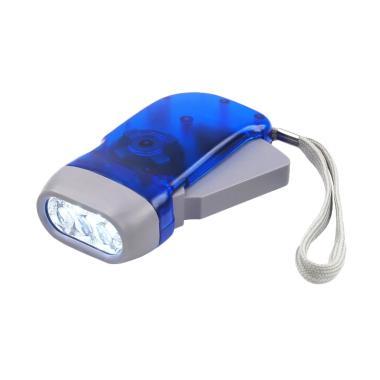 Jejo Senter Pompa Tanpa Baterai LED Biru