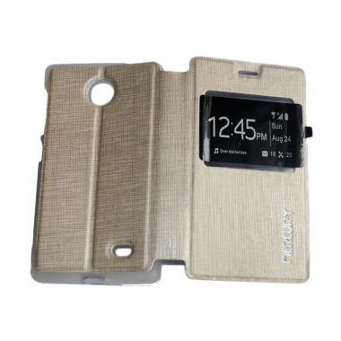 Mercury Flip Cover Casing for Nokia X - Gold