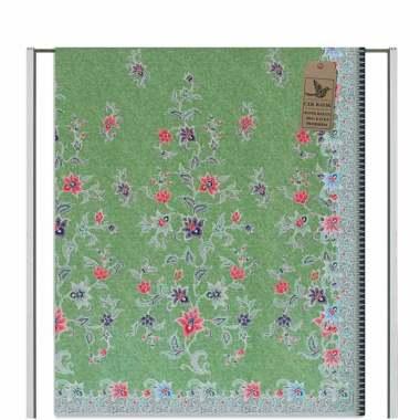 Cek Batik Motif Modern Kabut Bunga Manis Cantik - Hijau Muda