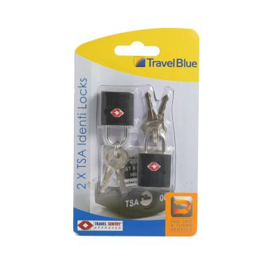 Travel Blue 028 Gembok Kunci TSA Identifikasi - Black [2 pcs]