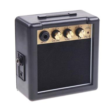 harga Guitar Amplifier Mini Electric Speaker 3W - Hitam Blibli.com