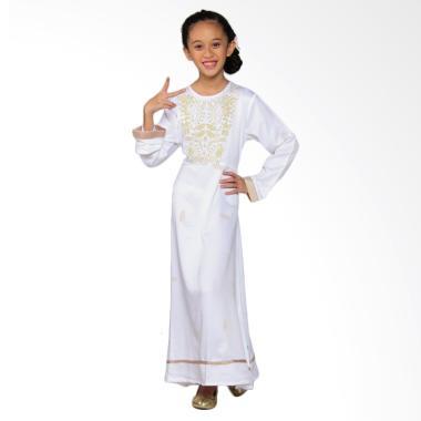 Versail Kids Junior R 1102 Gamis Glamour Corak Daun - White