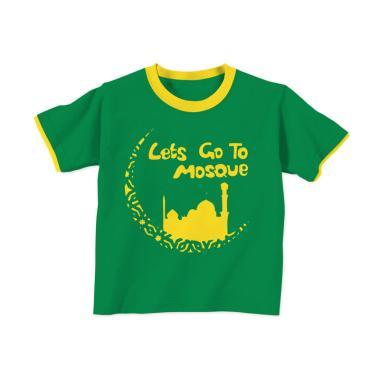 Aitana AiK-16-005 Mosque Kids Kaos Muslim Anak Laki Laki - Hijau Tua