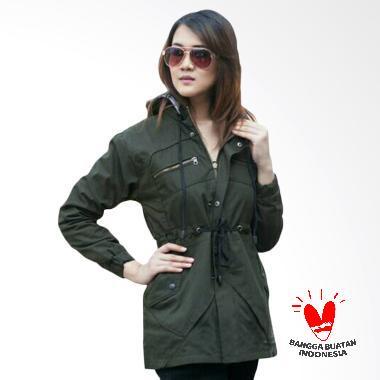 BlessHer Premium Jaket Parka Exclusive Wanita - Green
