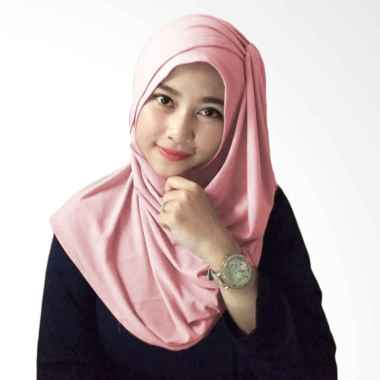 Hijabku Murah Hana Ceruti Hijab Instan - Dusty Pink