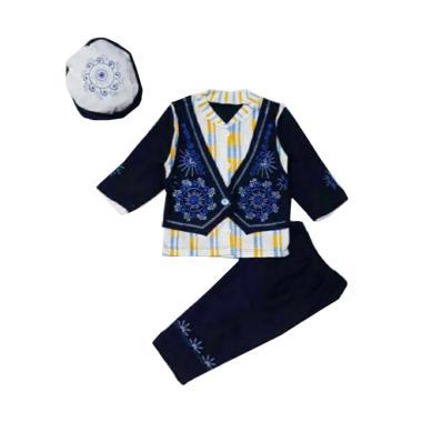 Chloebaby Shop 1056 Casual Setelan Baju Koko Anak - Navy