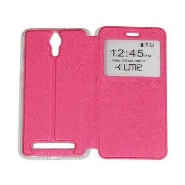 UME Flipshell / Flip Cover Casing f ... g Handphone / View - Pink