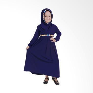 Baju Yuli Gamis Baju Muslim Anak Perempuan - Navy Blue