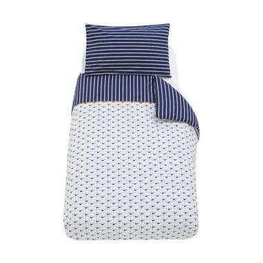 Mothercare Whale Bay Cot Bed Duvet and Pillow Case Set Alas Tidur Bayi