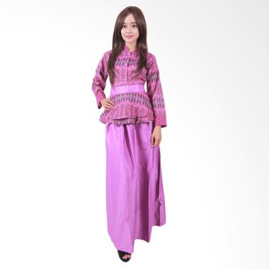 Batik Putri Ayu Solo G3 Gamis Batik - Ungu