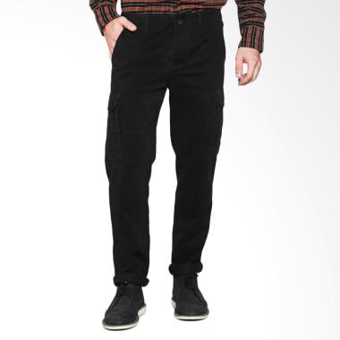Travis Jeans TRV05M00009 Cargo Washed Pants - Black
