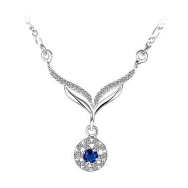 Bella & Co Necklace LKNSPCN498 Aksesoris Kalung Lapis Silver