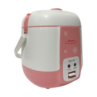 Maspion Travel Cooker MRJ 051 Mini Rice Cooker - Pink Salem