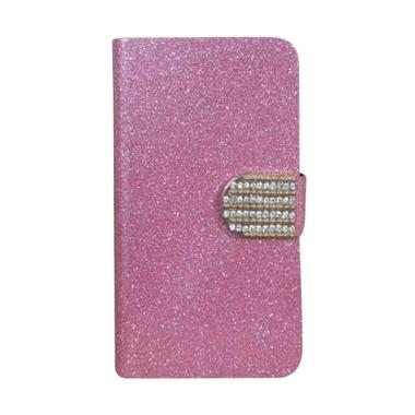 OEM Diamond Flip Cover Casing for S ... Pro SM C9000 - Merah Muda