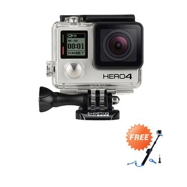 GoPro Hero 4 Black Edition Action Cam + Free Smatree SmaPole T1