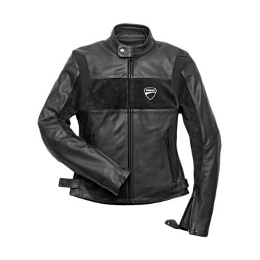 Ducati Company C2 Leather Lady Perforated Jaket Motor - Black