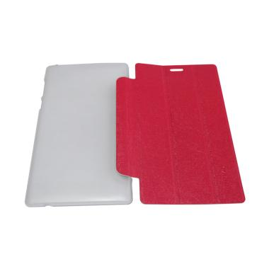 QCF Leather Bookcover Flip Cover Casing for Lenovo Tab 2 A7-10 - Merah