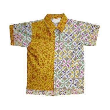 Jual Mayura Batik Kemeja Batik Anak Laki laki  Kawung Kuning