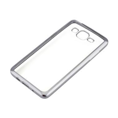 OEM Shining Chrome Softcase Casing for Samsung Galaxy J710 J7 2016 - Silver