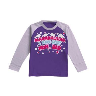Aitana Kids AiK-16-014 momdad Kaos Muslim Anak Perempuan - Ungu Tua