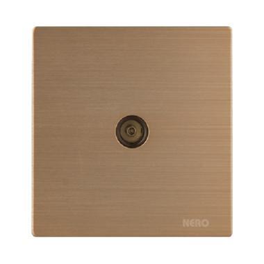 Nero Titanium V10TV-G Saklar Listrik - Gold [1 Gang TV Outlet]