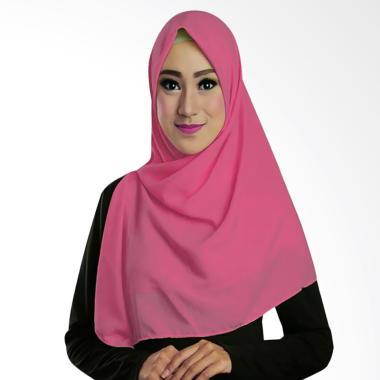 Ruman Hijab Square Jilbab Kerudung Segi Empat TS - Pink
