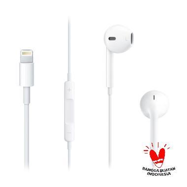 Apple Original Earphone with Lightning Conector for iPhone 7 - Putih
