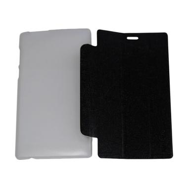 QCF Leather Bookcover Flip Cover Casing for Lenovo Tab 2 A7-10 - Hitam