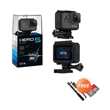 GoPro HERO5 Action Camera - Black [Paket Ekonomis]
