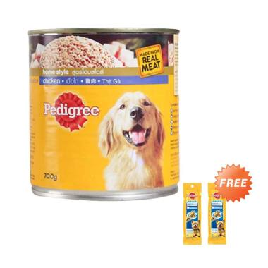 Pedigree Chicken [700 g] + Free Denta Stix Small Makanan Anjing [2 pcs