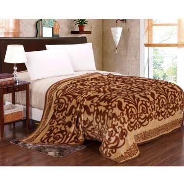 Lucky Blanket Gold Batik Selimut Bulu Dewasa [180 x 200 cm]