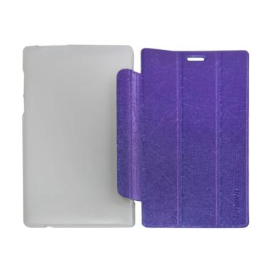 QCF Leather Bookcover Flip Cover Casing for Lenovo Tab 2 A7-10 - Ungu