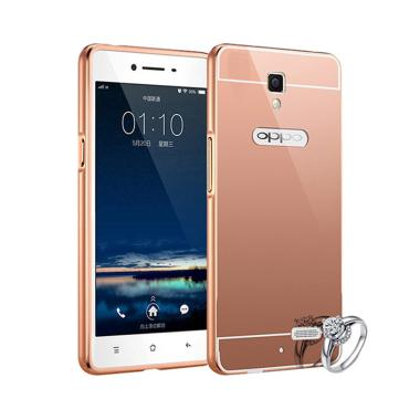 Elshadai Bumper Mirror Casing for Oppo Neo 3 R831K - Rose Gold