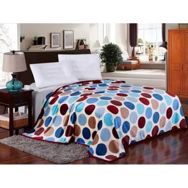 Lucky Blanket Motif Polkadot Selimut Bulu [180 x 200 cm]