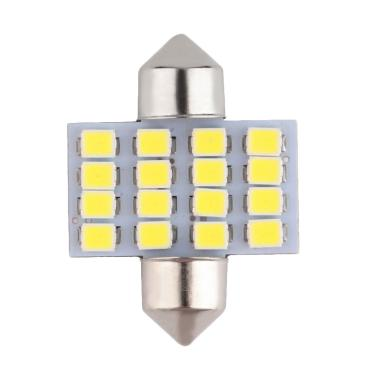 JMS 16 SMD 1210 31 Mm Lampu LED Mobil For Kabin Or Plafon - White [1 Pair/2 Pcs]