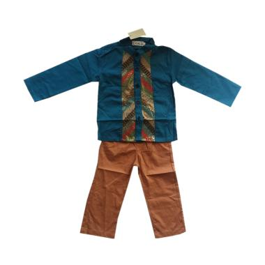 L Nice Koko Boys Atasan Tosca Set Pants Baju Koko Anak - Brown