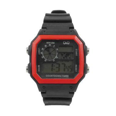 Lihat Detil · Q&Q QQ 3122 Dial Hitam Jam Tangan Digital Pria - Merah