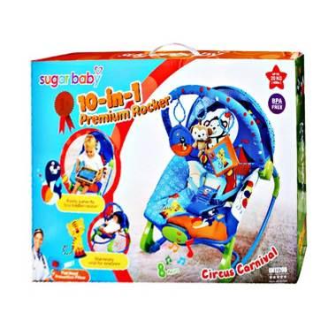 Sugar Baby 10 in 1 Premium Rocker Bouncer - Circus Carnival