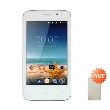 Advan Vandroid S4T Smartphone - White + Free Flip Cover Putih