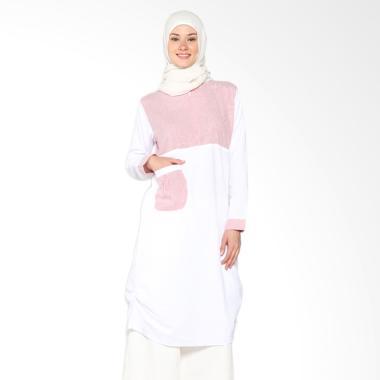 Chick Shop Unique Plain CO-78a-02-MP Dress Moslem - Red White
