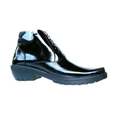 MD Mandien's PDH SJ273-KBM TNI POLRI Kilap Sepatu Boots Pria - Hitam