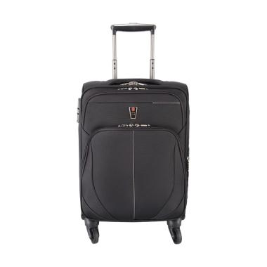 Navy Club 3793 4 Roda Putar Koper Cabin Travel Bag - Hitam [18 Inch]