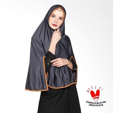 Raniah Hijab Bergo Belah Tangan Kerudung Syar'i - Abu-abu Tua